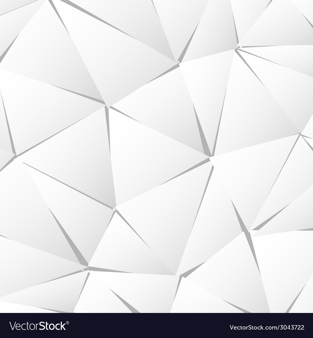 Abstract white paper triangle background vector | Price: 1 Credit (USD $1)