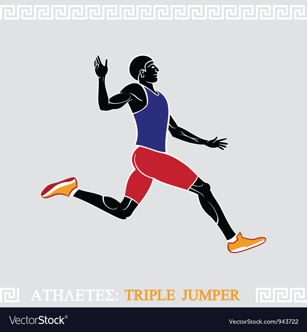 Athlete triple jumper vector | Price: 3 Credit (USD $3)