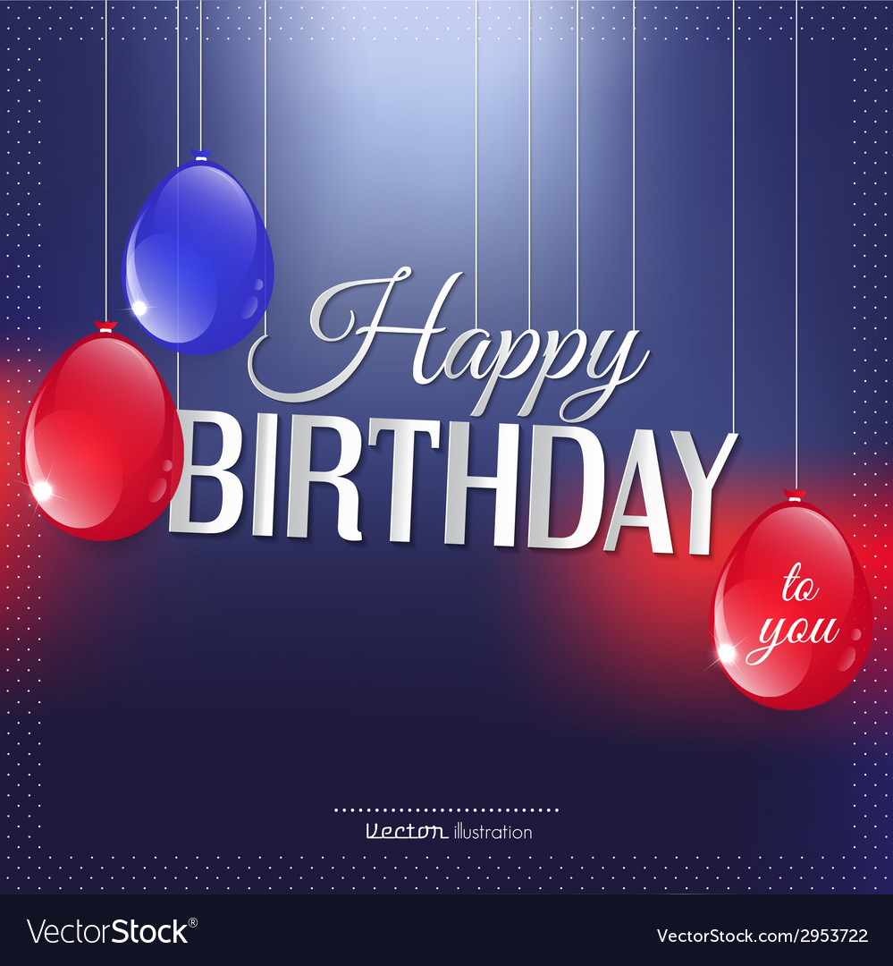 Birthday card in bright colors vector | Price: 1 Credit (USD $1)