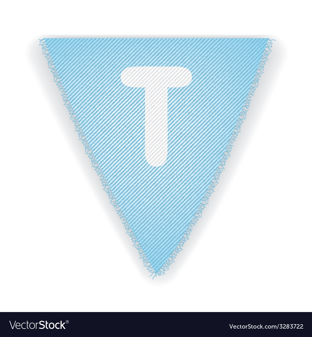 Bunting flag letter t vector | Price: 1 Credit (USD $1)