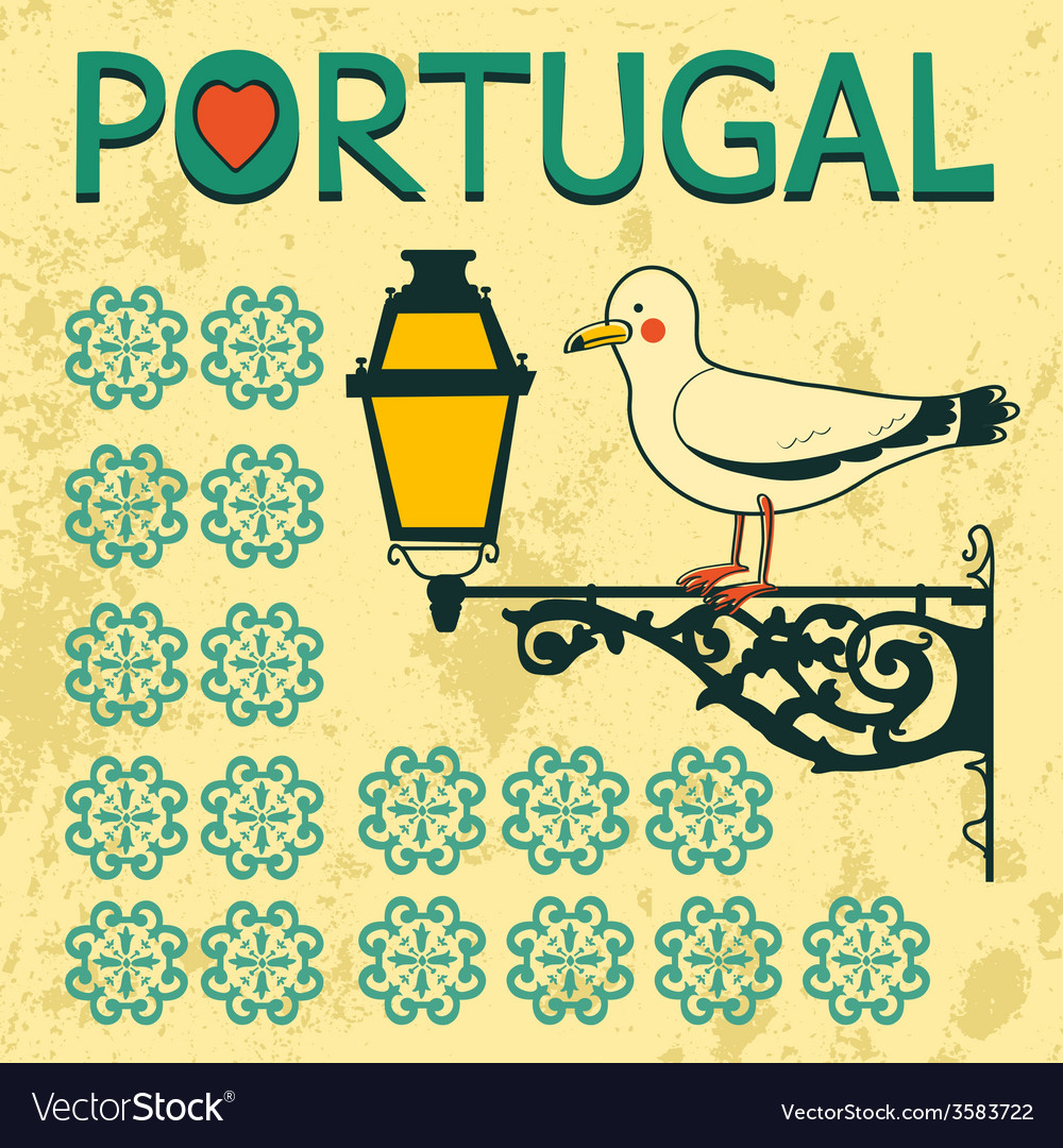 Concept card with tipical portuguese lantern and vector | Price: 1 Credit (USD $1)