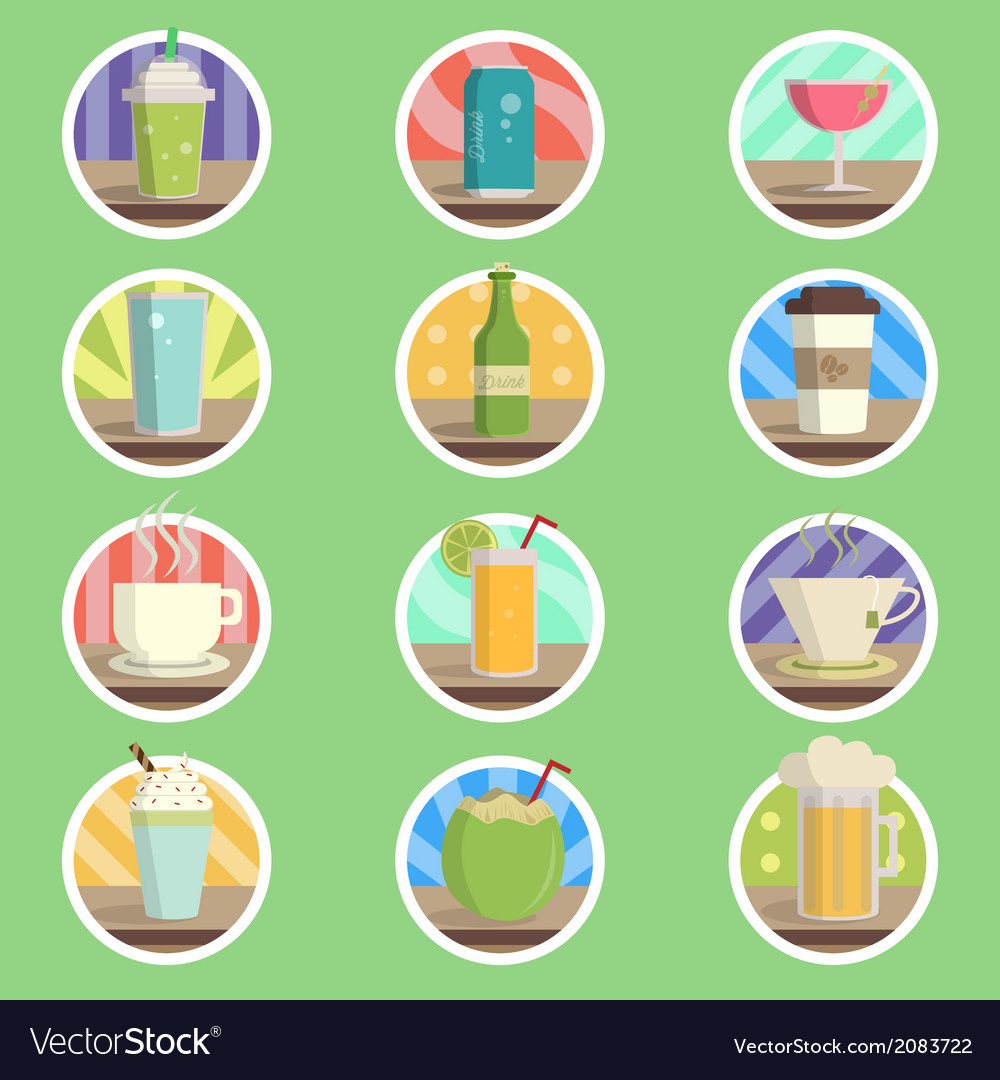 Drink menu flat icon vector | Price: 1 Credit (USD $1)