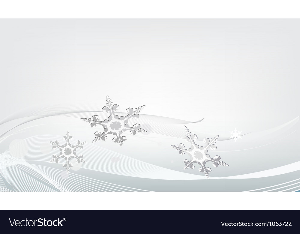 Gray background with snowflakes vector | Price: 1 Credit (USD $1)