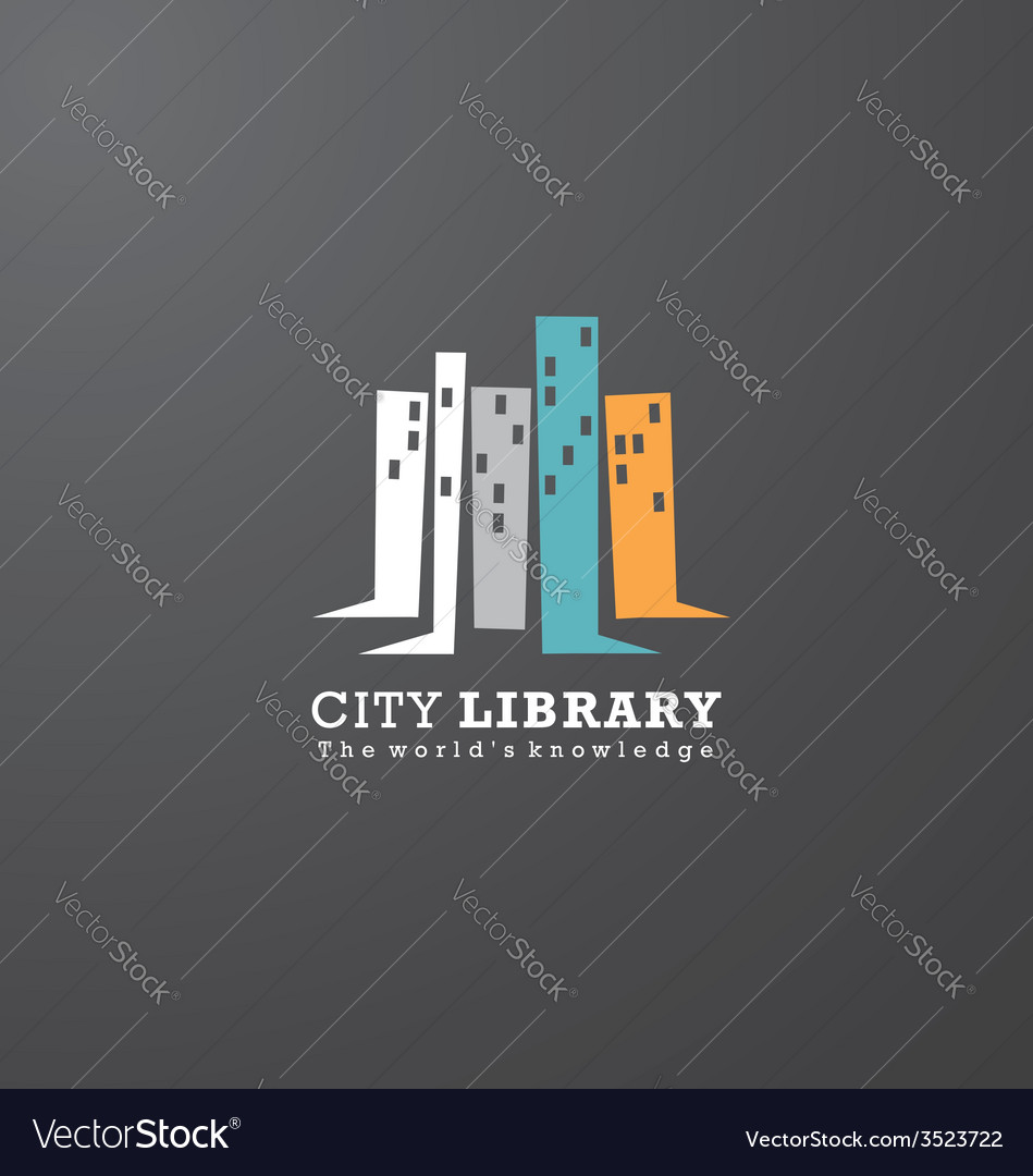 Logo design idea for library or book store vector | Price: 1 Credit (USD $1)