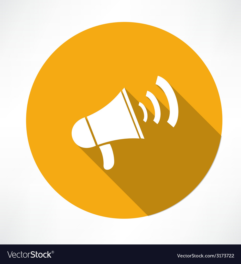 Megaphone - loudspeaker icon vector | Price: 1 Credit (USD $1)
