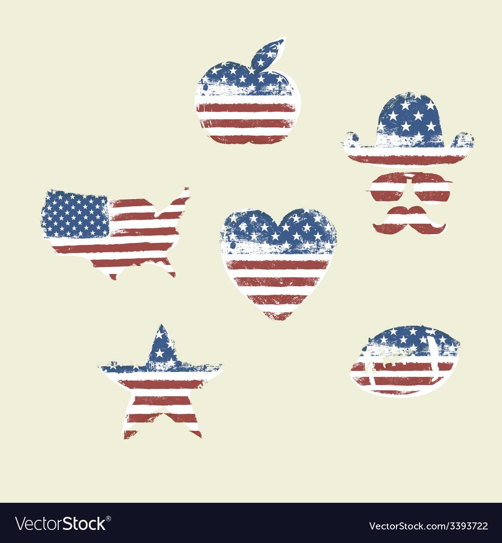 Patriotic symbols composed flag part1 vector | Price: 1 Credit (USD $1)