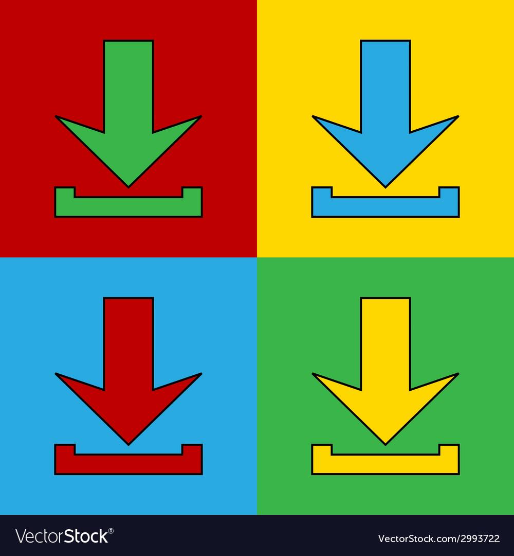 Pop art arrow vector | Price: 1 Credit (USD $1)