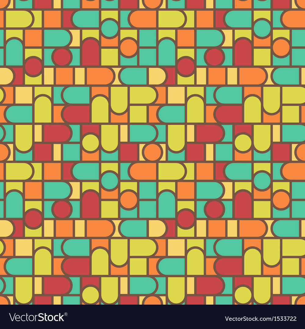 Stained glass pattern background vector | Price: 1 Credit (USD $1)