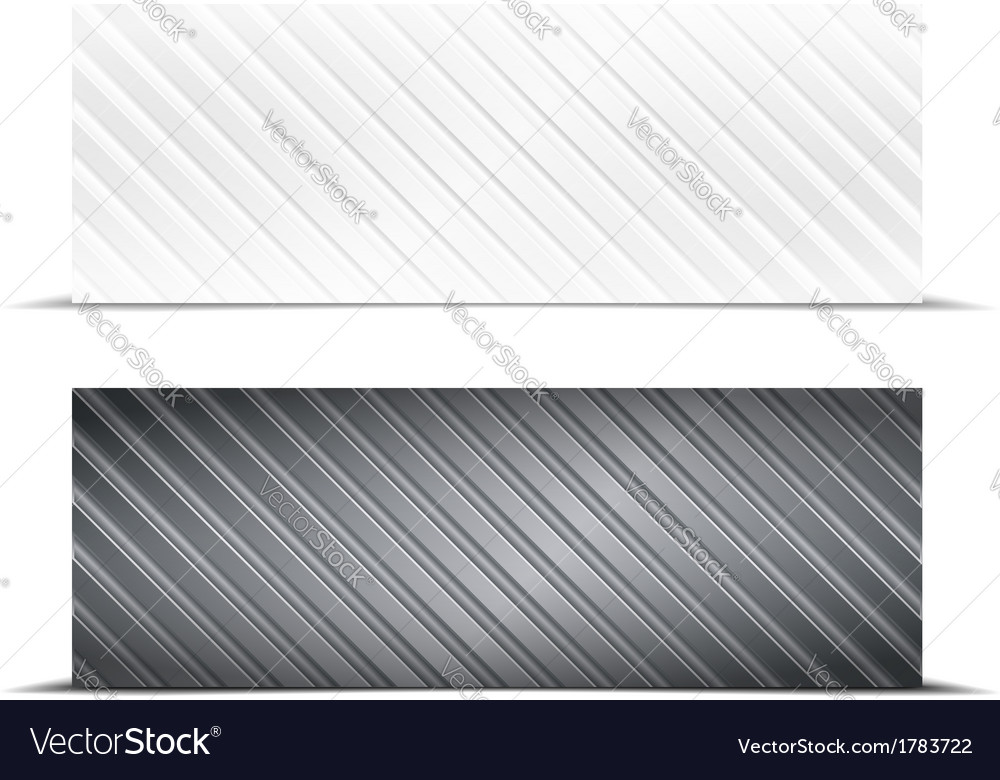 Striped banners vector | Price: 1 Credit (USD $1)