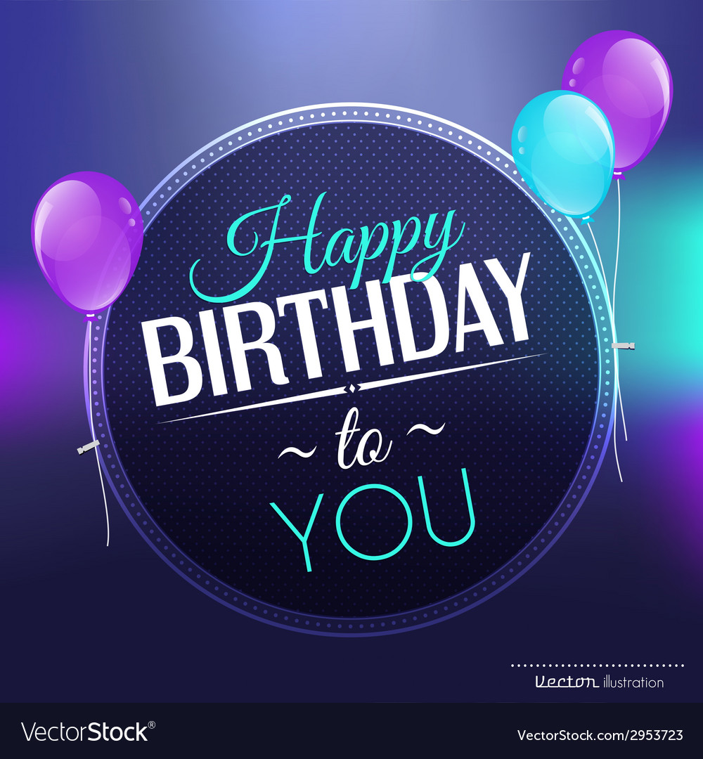 Birthday card in bright colors vector   Price: 1 Credit (USD $1)