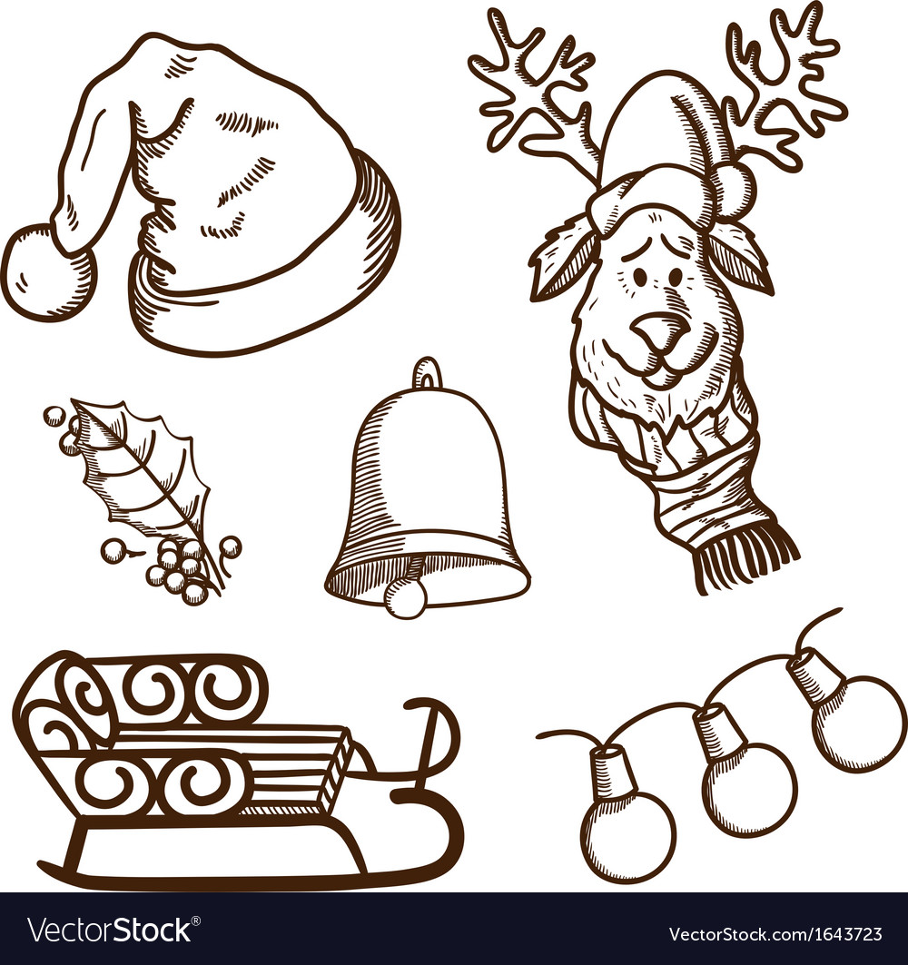 Christmas and new year objects collection vector   Price: 1 Credit (USD $1)