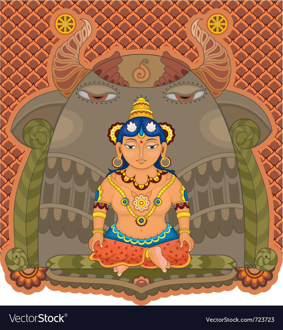Girl india goddess vector | Price: 3 Credit (USD $3)