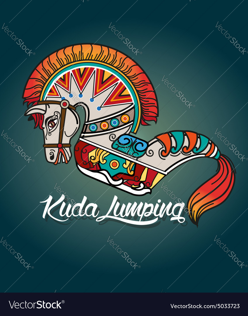 Kuda lumping or horse braid vector