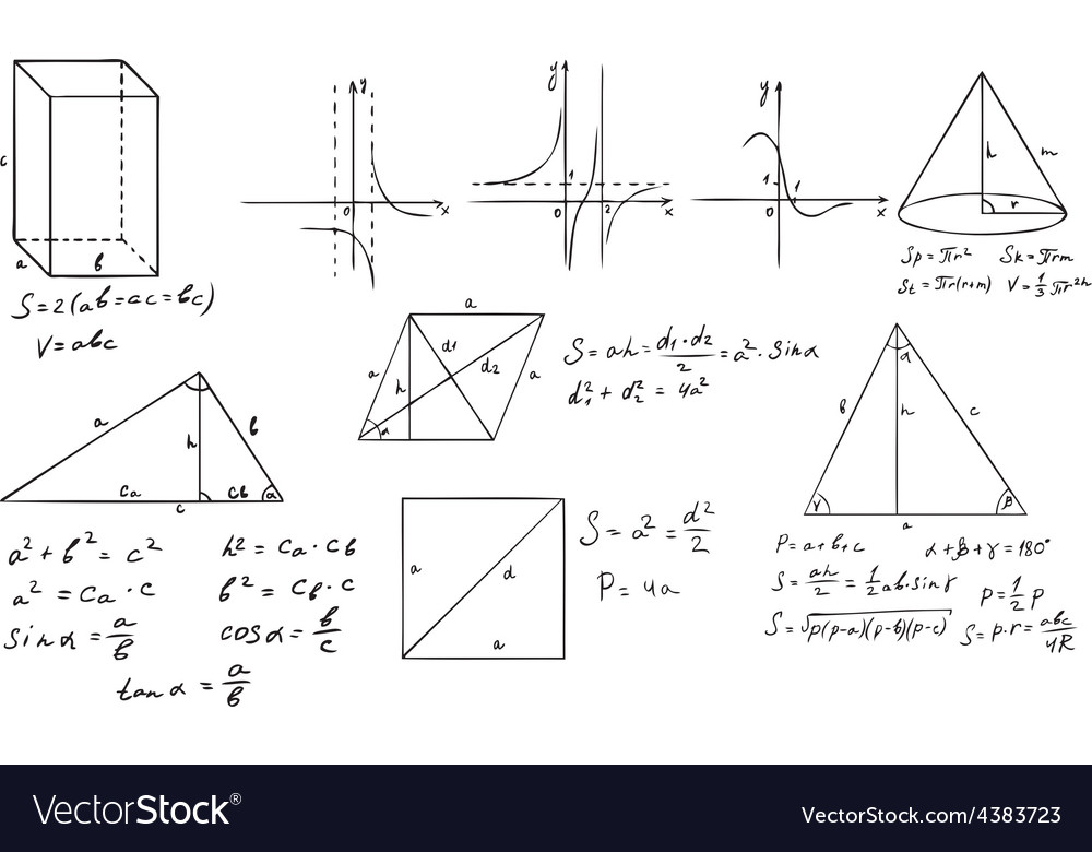 Mathematics and geometry set vector | Price: 1 Credit (USD $1)