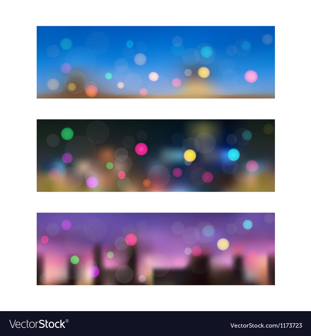 Night in city seamless banners vector | Price: 1 Credit (USD $1)