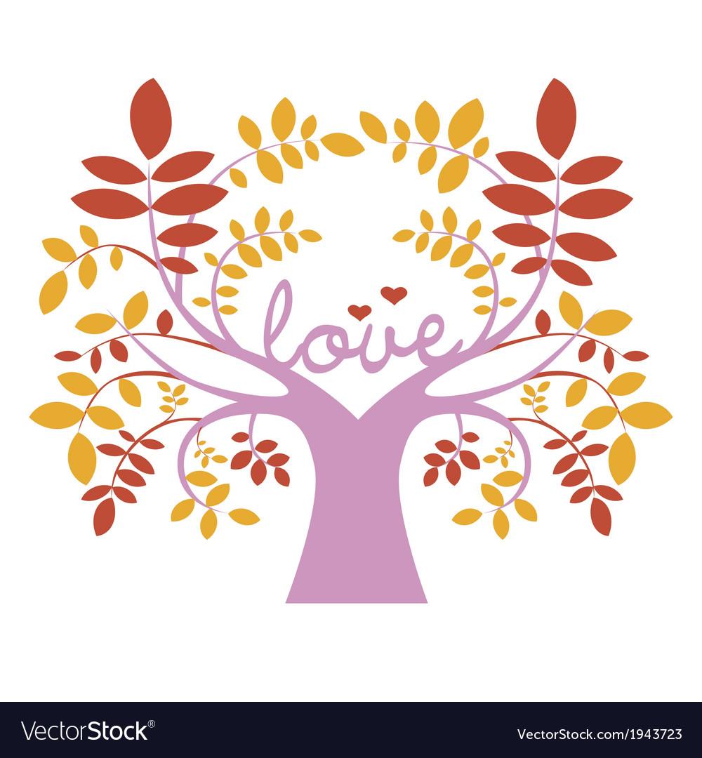 Romantic elegant tree vector