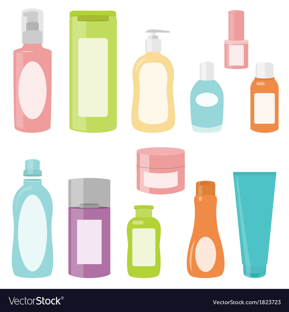 Set 2 of cosmetics containers vector | Price: 1 Credit (USD $1)