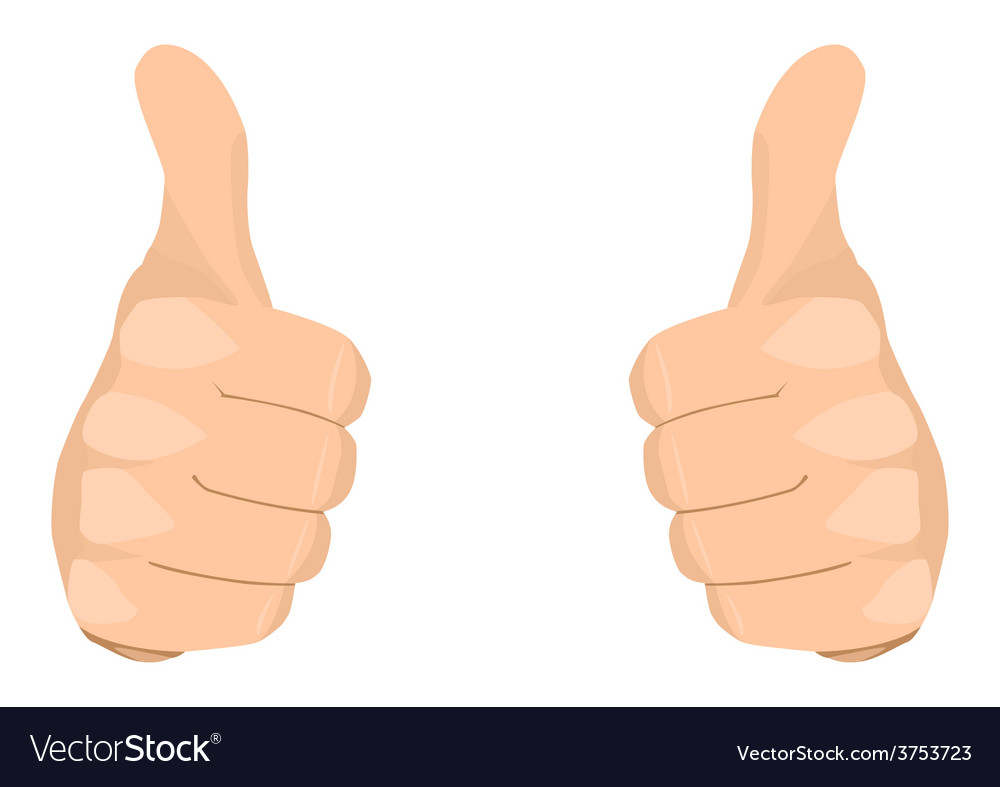 Two thumbs up vector | Price: 1 Credit (USD $1)