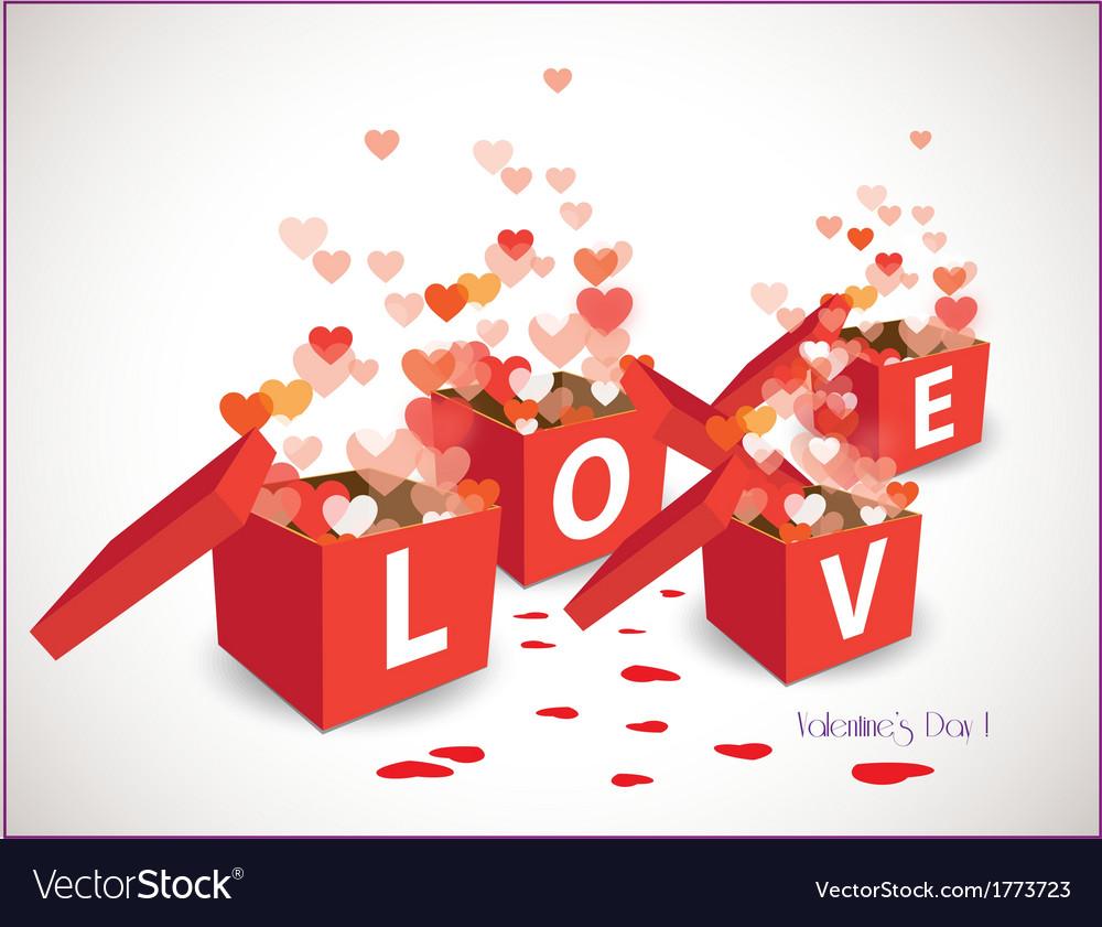 Valentine gift box vector | Price: 1 Credit (USD $1)