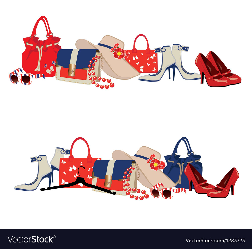 Womens accessories vector | Price: 3 Credit (USD $3)