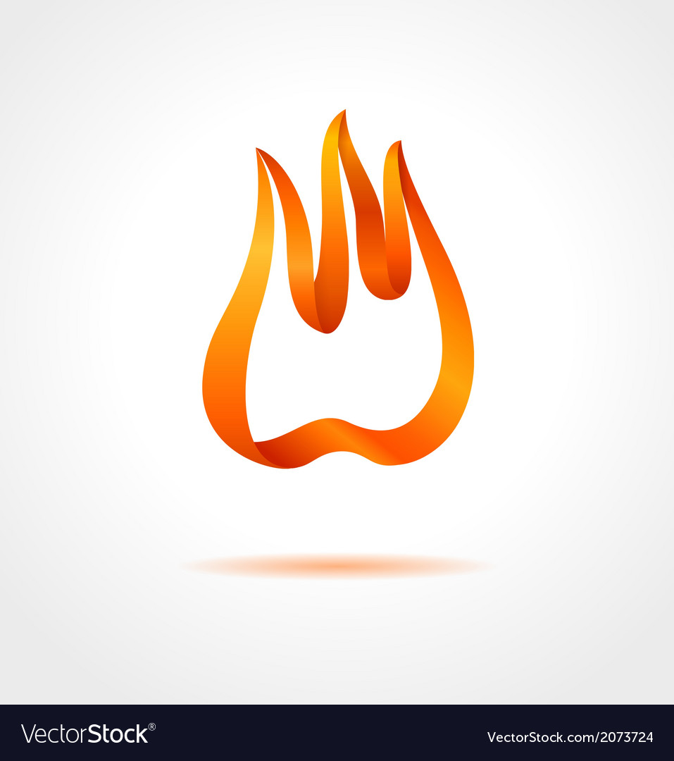 Abstract flame on gray background vector | Price: 1 Credit (USD $1)