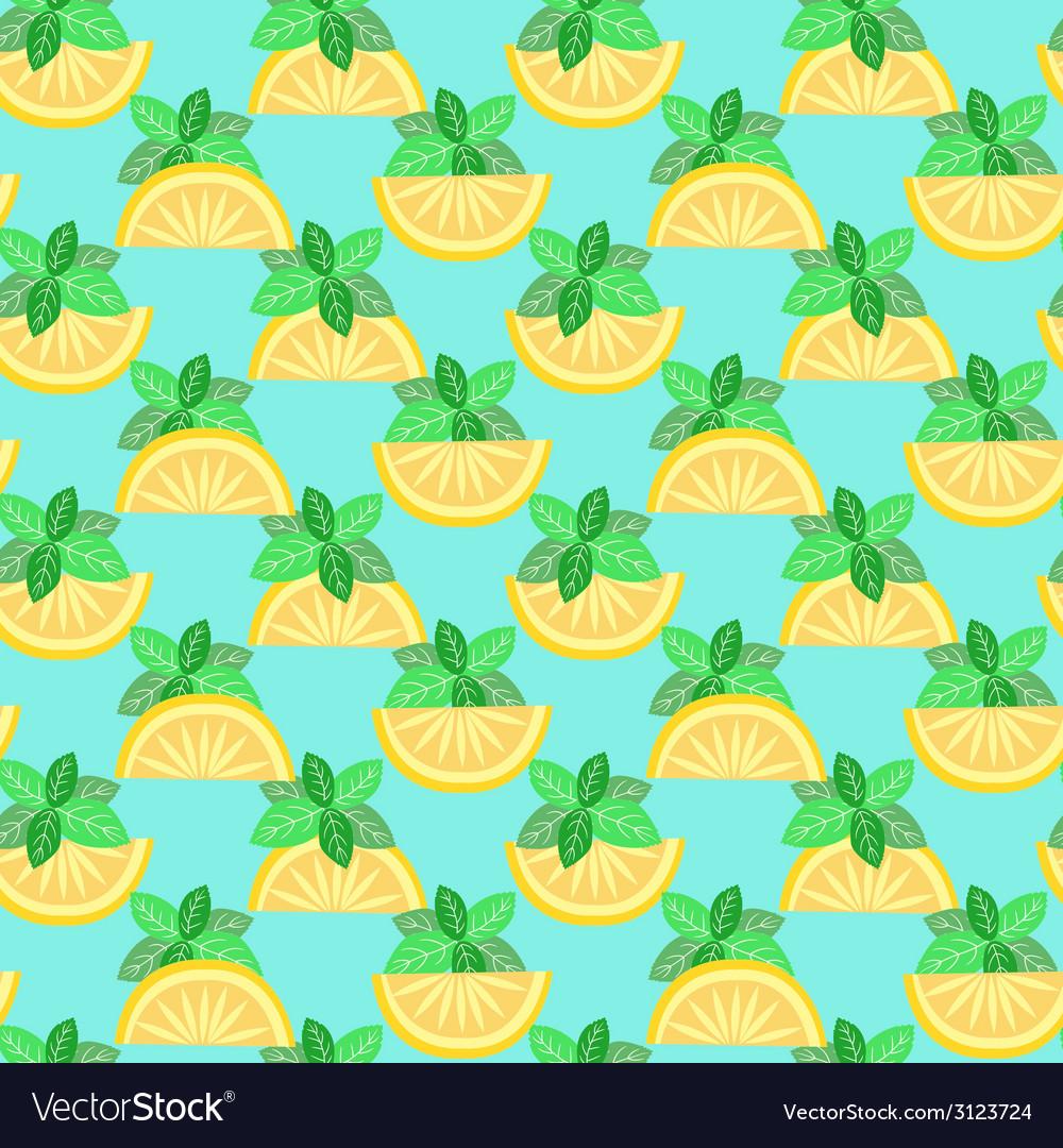 Citrus seamless pattern - vector | Price: 1 Credit (USD $1)