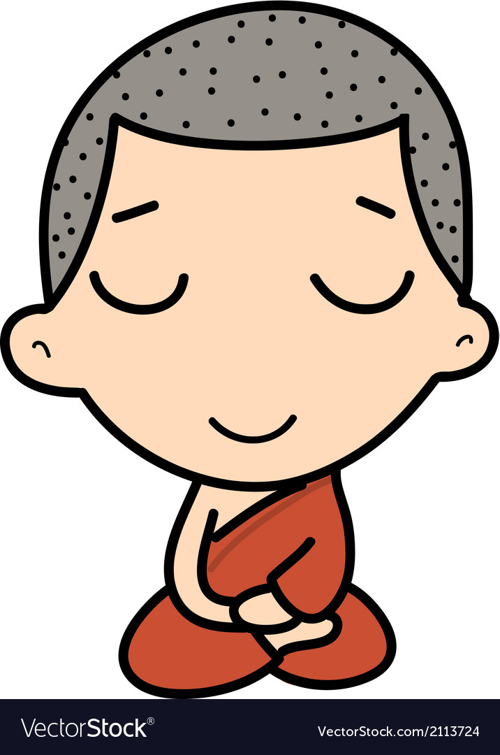 Cute buddhist monk vector | Price: 1 Credit (USD $1)