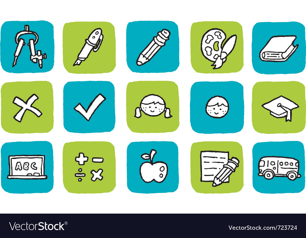 Icon education vector | Price: 1 Credit (USD $1)
