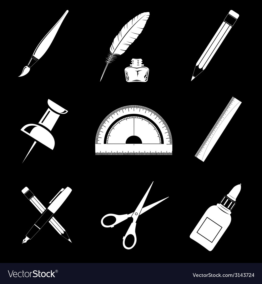 Office tools vector | Price: 1 Credit (USD $1)