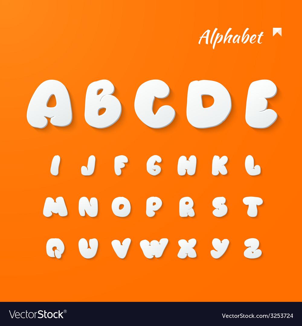 Paper graphic alphabet set vector | Price: 1 Credit (USD $1)