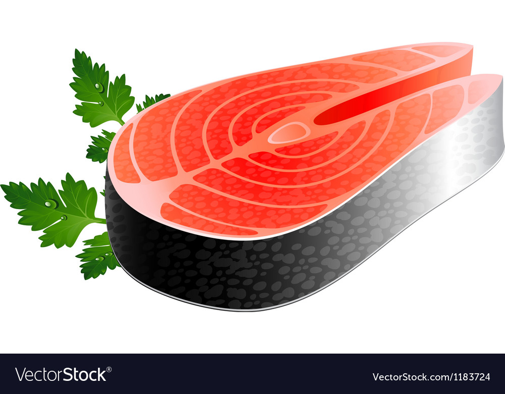 Salmon steak vector | Price: 1 Credit (USD $1)