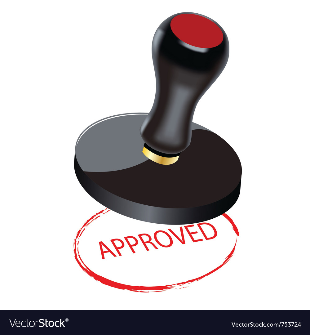 Seal approved vector | Price: 1 Credit (USD $1)