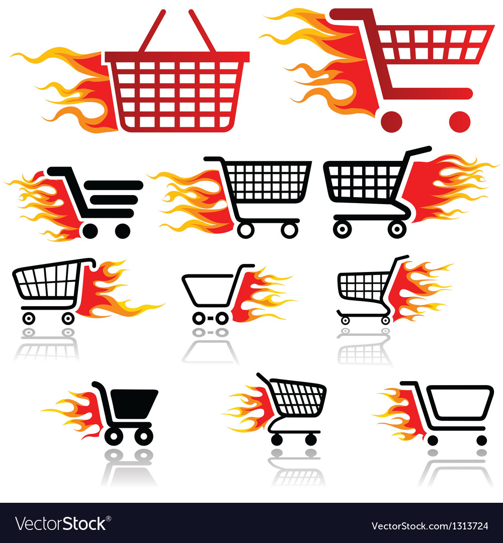 Shopping cart sign vector | Price: 1 Credit (USD $1)