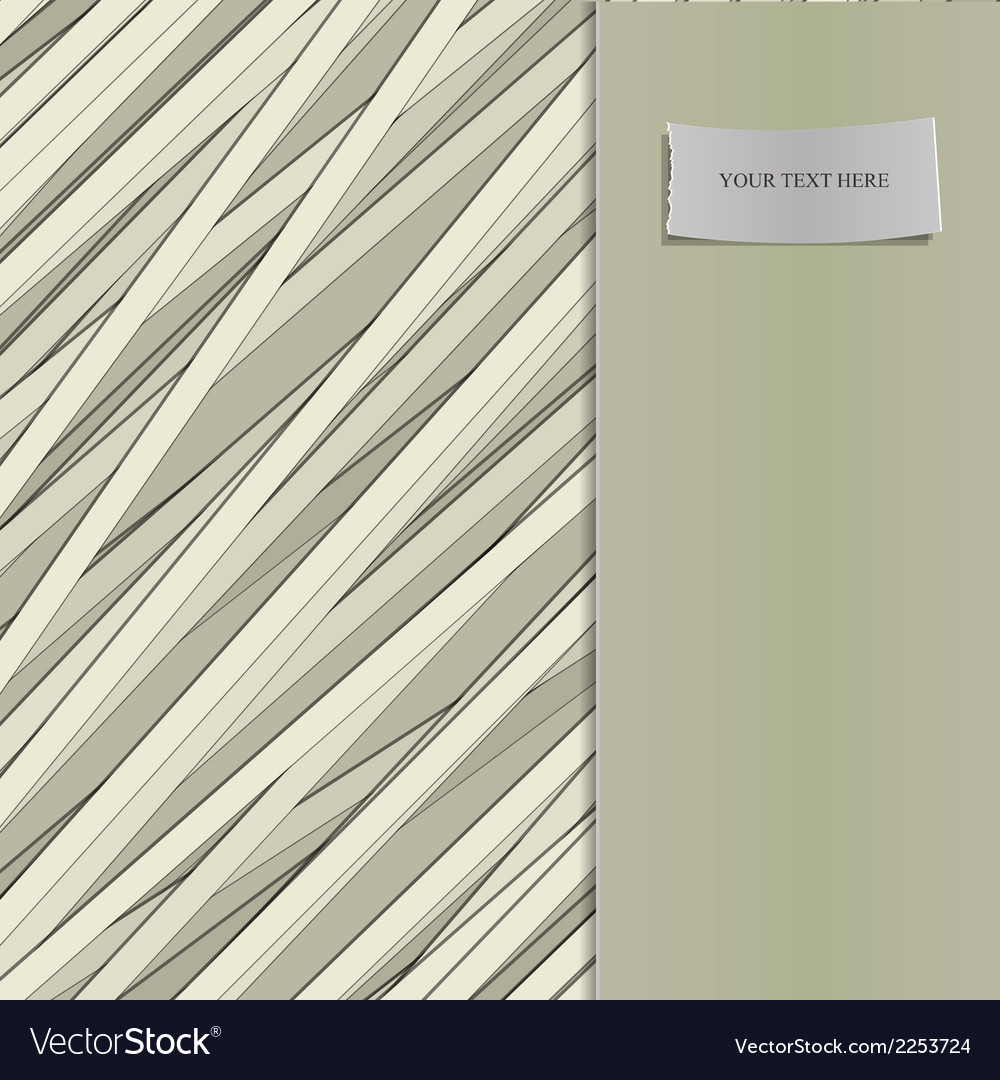 Stripe pattern with label for text vector | Price: 1 Credit (USD $1)