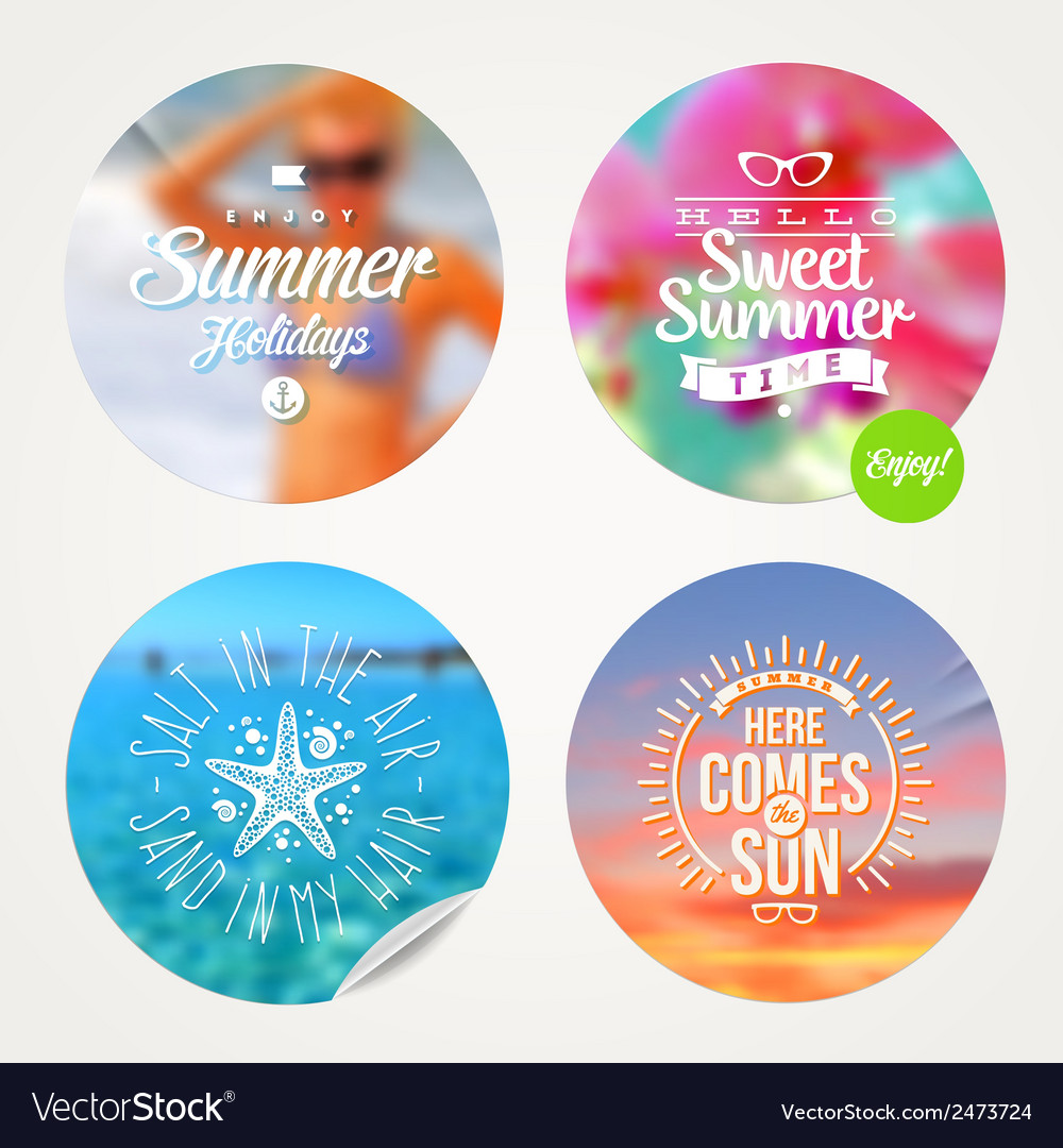Summer holidays and tropical vacation set vector | Price: 1 Credit (USD $1)