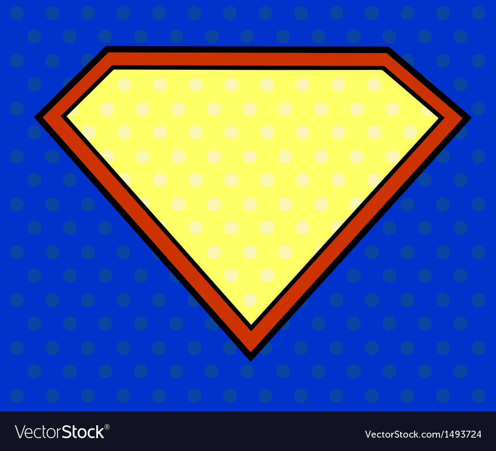 Super hero shield in pop art style vector | Price: 1 Credit (USD $1)