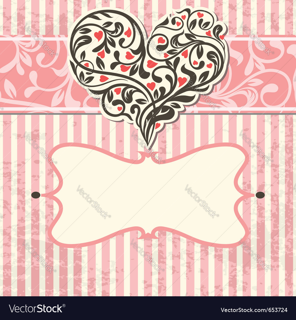 Vintage card with abstract heart vector | Price: 1 Credit (USD $1)