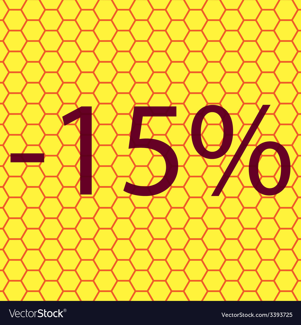 15 percent discount icon symbol flat modern web vector | Price: 1 Credit (USD $1)
