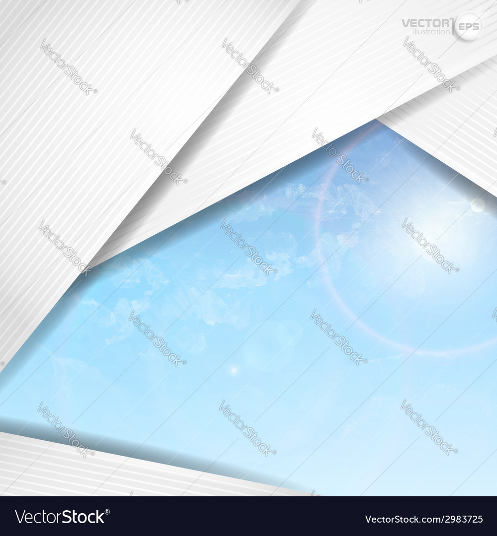 Abstract background with white paper layers vector | Price: 1 Credit (USD $1)