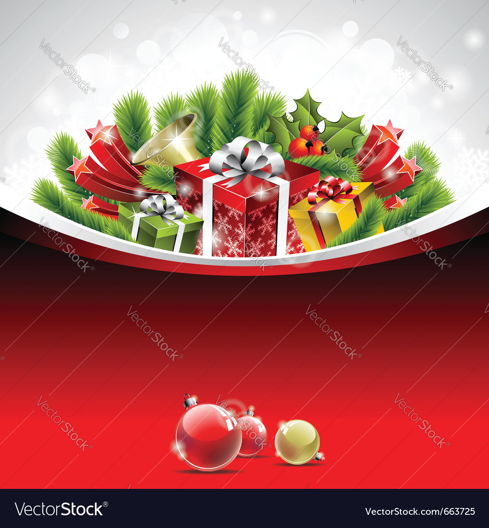 Christmas theme with gift boxes vector | Price: 3 Credit (USD $3)