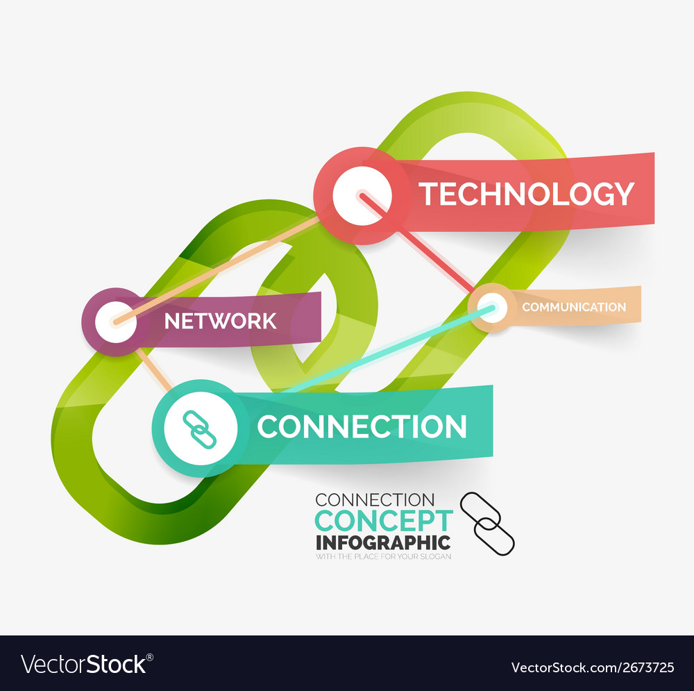 Connection concept infographic vector | Price: 1 Credit (USD $1)