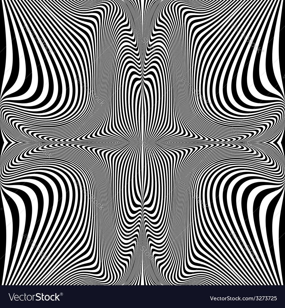 Design monochrome twirl movement background vector   Price: 1 Credit (USD $1)