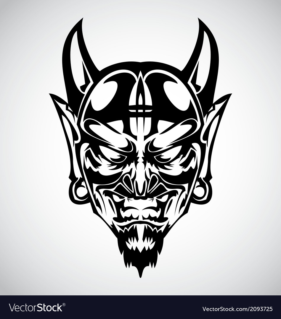 Devil face tribal vector | Price: 1 Credit (USD $1)