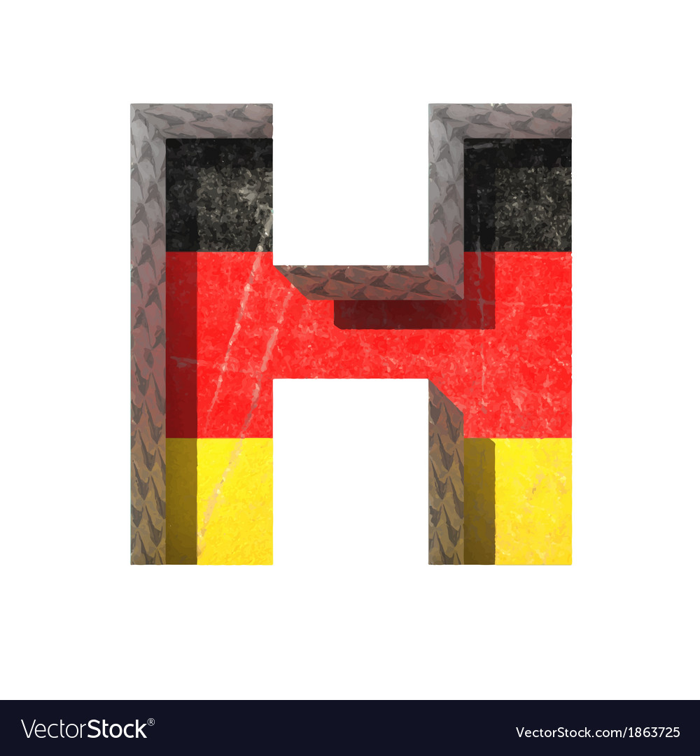 Germany cutted figure h vector | Price: 1 Credit (USD $1)
