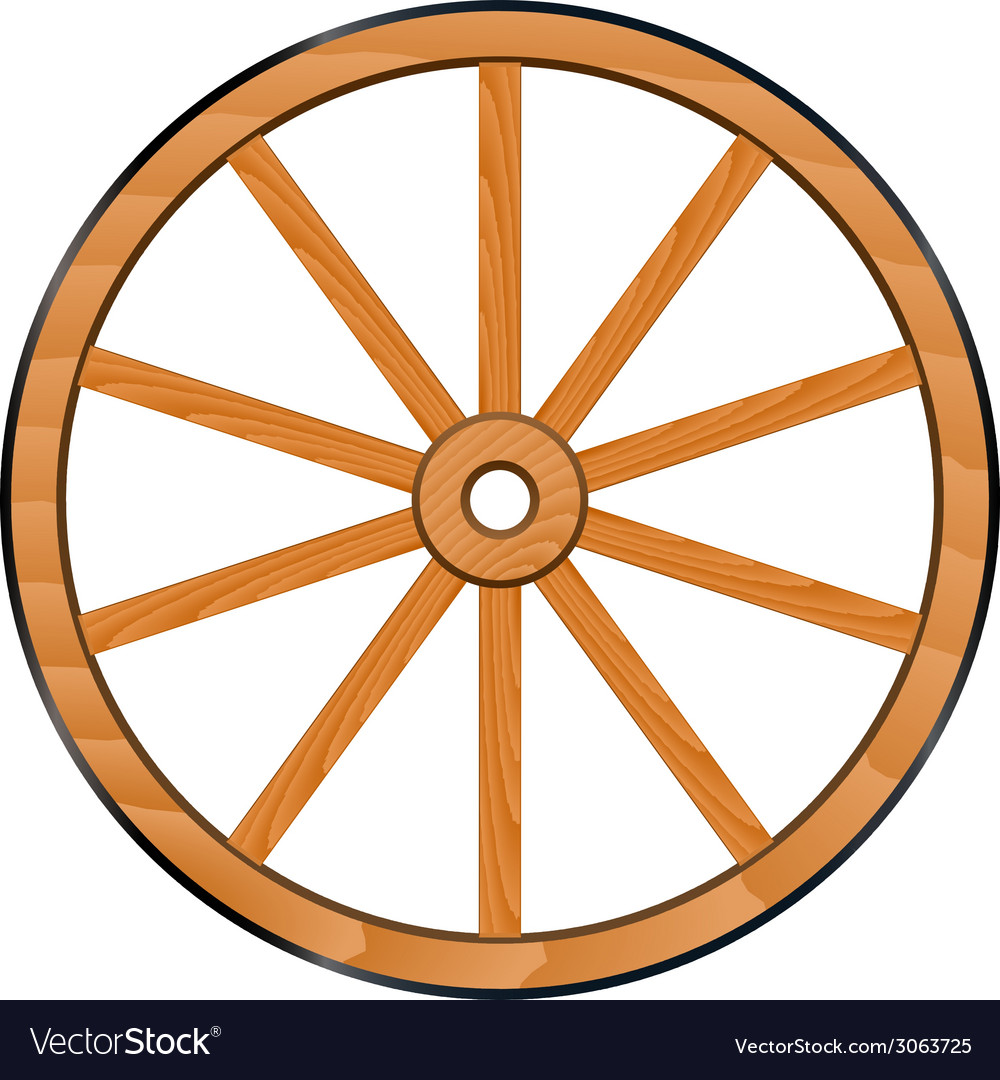 Old wooden wheel vector | Price: 1 Credit (USD $1)