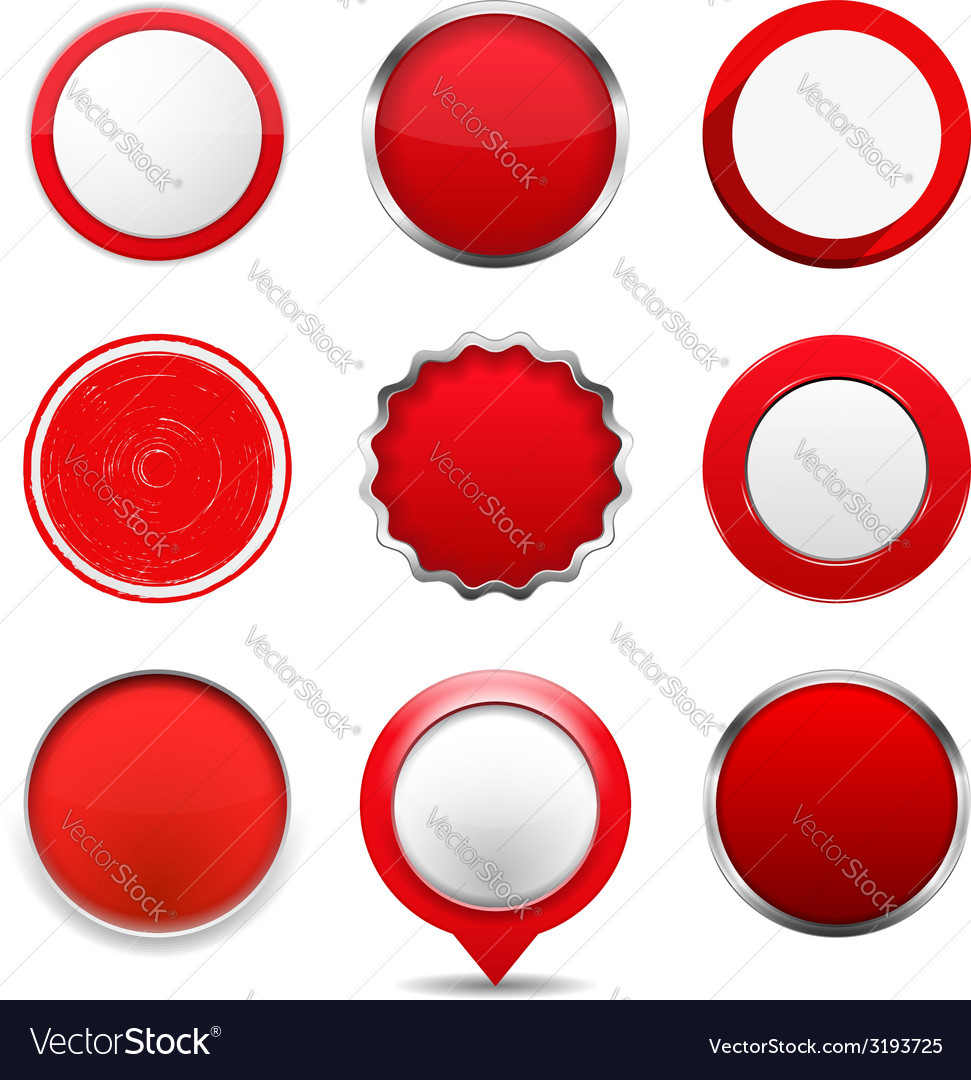 Red round buttons vector | Price: 1 Credit (USD $1)