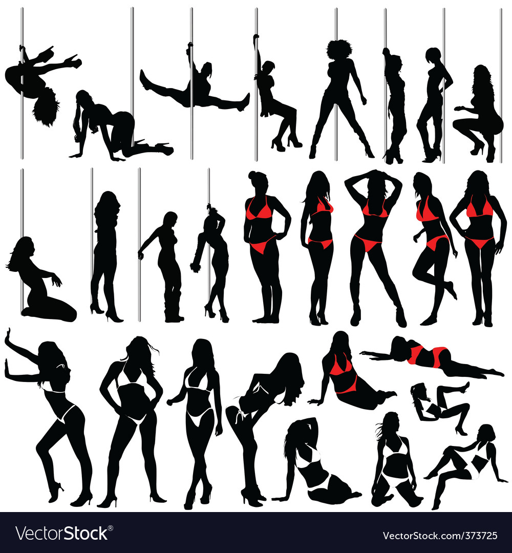 Sexy women and striptease vector | Price: 1 Credit (USD $1)