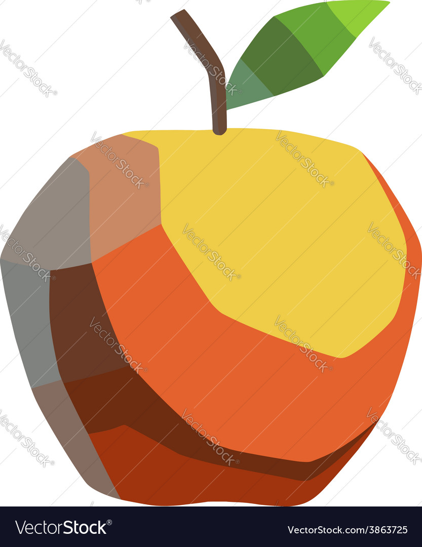 Stylized apple vector | Price: 1 Credit (USD $1)