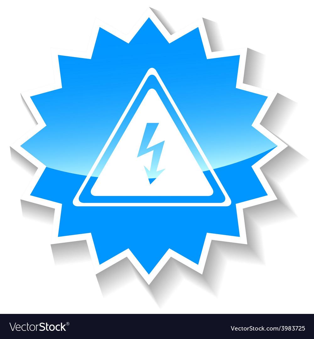 Voltage blue icon vector | Price: 1 Credit (USD $1)