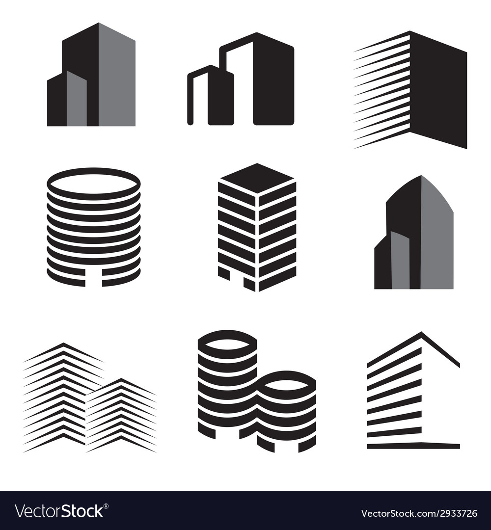 Building real state icons set vector | Price: 1 Credit (USD $1)